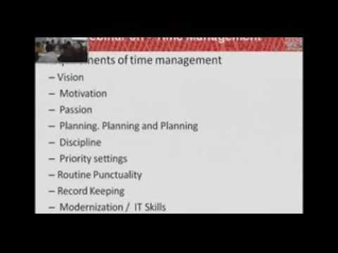 A WEBINAR ON  TIME MANAGEMENT