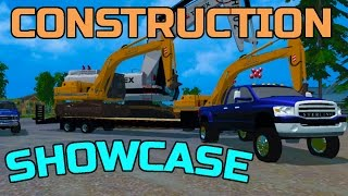 FARMING SIMULATOR 2015 | CONSTRUCTION MOD SHOWCASE | + STERLING