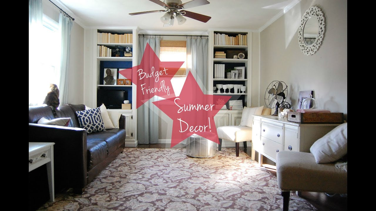budget-friendly summer living room decor - youtube