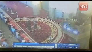 CCTV shows attack on Masjid Negara Imam