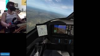 Landing the Cirrus SF50 Jet... Almost (Oculus Rift VR + X-Plane 11 Flight Simulator) [2018-07-28]