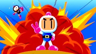 Saturn Bomberman Fight!! (1997) White Bomber Playthrough & 4 Player Battle Match / SEGA Saturn