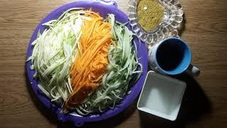 ДИЕТИЧЕСКИЙ яркий салат для похудения за 5 минут. Праздничный рецепт для всех. Канал Тутси