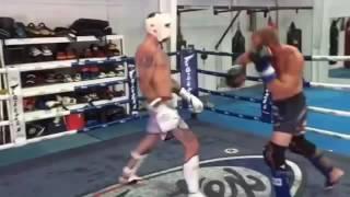 Donald Cerrone vs Joe Schilling Light  Sparring