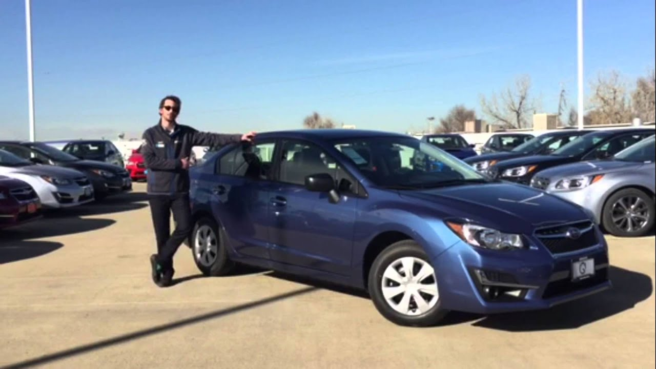 2016 Subaru Impreza 2 0i 4d Sedan Lease Special Groove In Denver Colorado