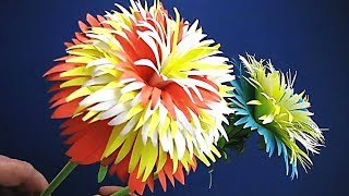 Paper Flower Stick 26 - DIY - Paper Craft - Handcraft/ Julia DATTA Crafts