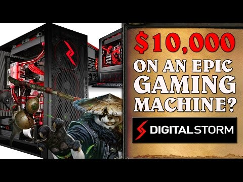 $10,000 EPIC Gaming Rig Build & Review - Digital Storm Aventum 3!