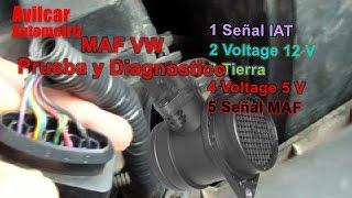 Como Revisar Sensor Air Flow Test MAF VW Jetta Bora Avilcar