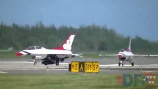 Download lagu USAF Thunderbirds Takeoff Landing at San Juan MP3
