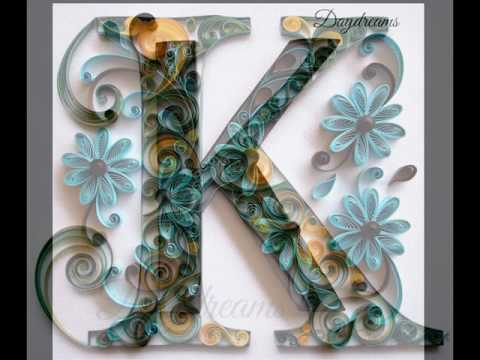 Paper quilling latter k 2016 paper art designs youtube altavistaventures Images