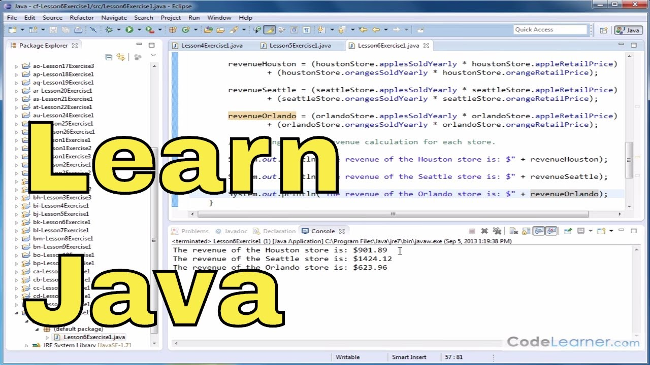 Learn Java - Exercise 06x - Working with Object Instance Variables