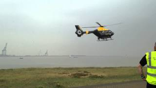 Essex Air Ambulance Motorcycle Run 2014 - Police Helicopter Landing