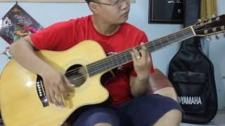 Test âm thanh đàn guitar Acoustic - mặt thông nguyên tấm - lưng hông gỗ bằng lăng.