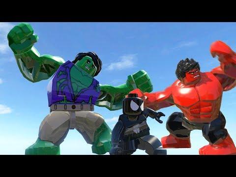 Hulk(Transformation) Vs Rhino Vs Red Hulk - Lego Marvel Super Heroes ...