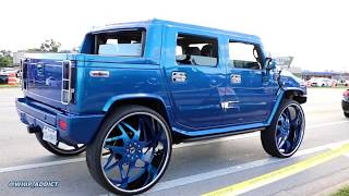 WhipAddict: Kandy Blue Hummer H2 on Forgiato Finestro 34s! Custom Interior & Audio