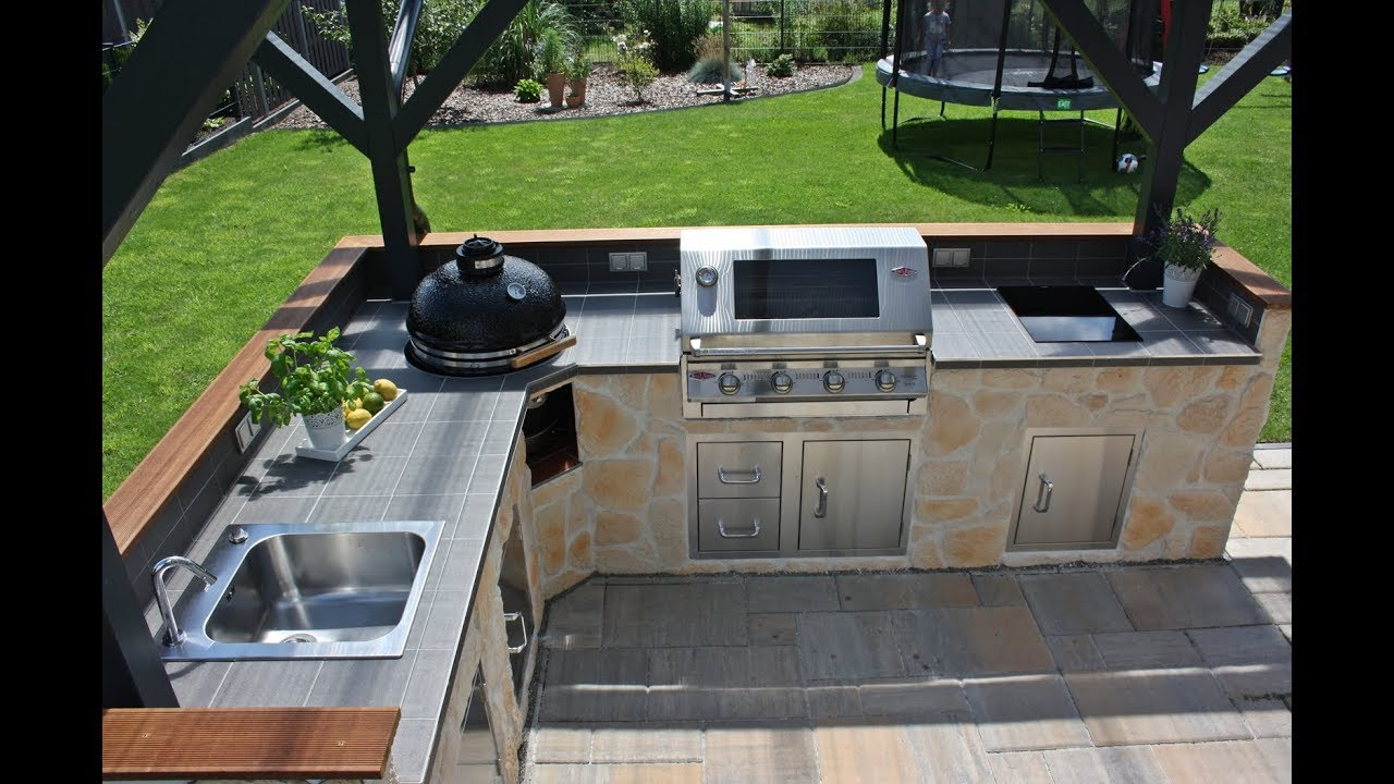 Outdoor Küche Rosenheim : Outdoor küche dach bau der bigbbq grill remise bigbbq de