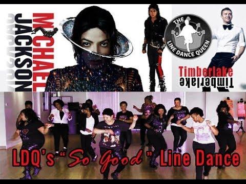 "Michael Jackson & Timberlake Love Never Felt ""So Good Line Dance"""