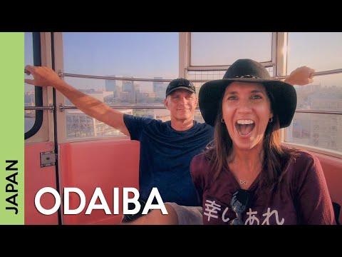 TOKYO, Japan Travel Guide: ODAIBA | Gundam Statue, Rainbow Bridge, Ferris Wheel (vlog 6)