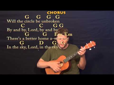 Will the Circle Be Unbroken (GOSPEL) Baritone Ukulele Cover Lesson with Chords / Lyrics