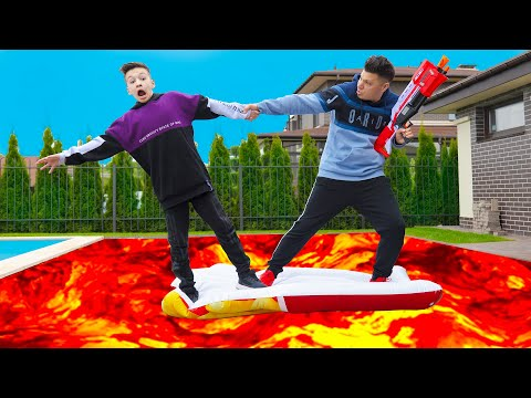 ПОЛ ЭТО ЛАВА ! ЭКСТРЕМАЛЬНЫЙ ЧЕЛЛЕНДЖ ! Floor Is LAVA Challenge