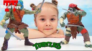 Черепашки Ниндзя . Арина открывает новые игрушки из фильма Teenage Mutant Ninja Turtles