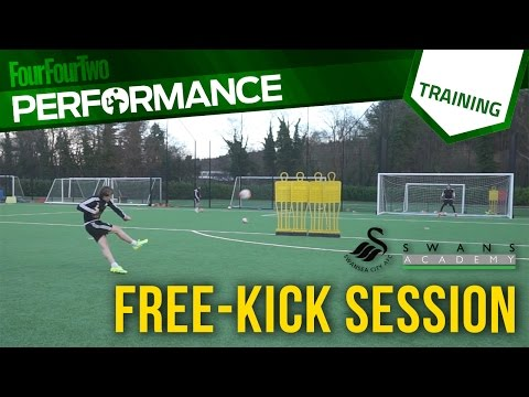 Swansea City academy free-kick training session
