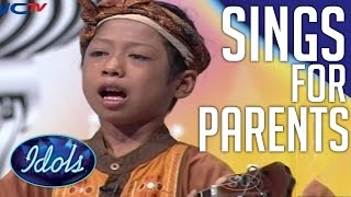 Boy Sings His Heart Out For Parents  Emotional Performance On Indonesian Idol Junior