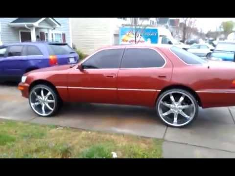 93 Ls400 Lifted on 24's - YouTube