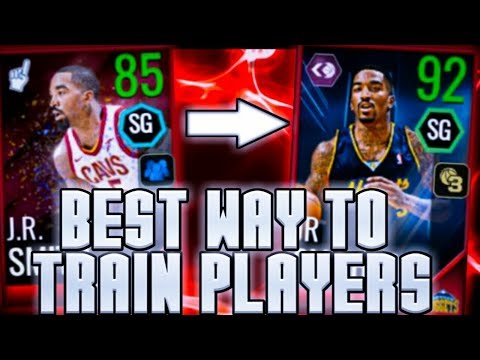 THE MOST EFFICIENT WAY TO TRAIN PLAYERS IN NBA LIVE MOBILE 18!!!