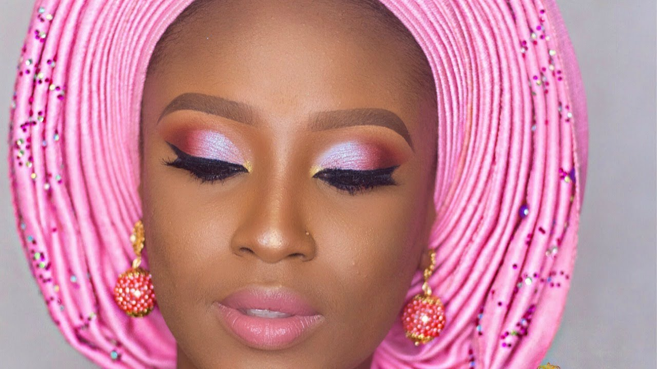 nigerian traditional bridal makeup tutorial - youtube
