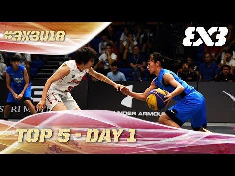 Top 5 Plays - Day 1 | FIBA 3x3 U18 Asia Cup