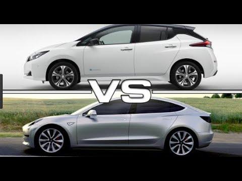 2018 Nissan Leaf Vs Tesla Model 3