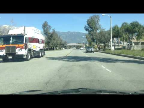 Drive from Walmart to Rancho Cucamonga library, Victoria shopping district; California