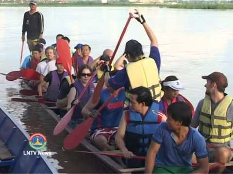 Lao NEWS on LNTV: Australia-ASEAN crew to take part in the annual boat racing festival.29/8/2014