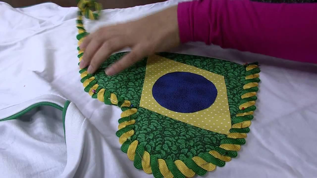 da7f87155 camiseta da copa com apliques - YouTube