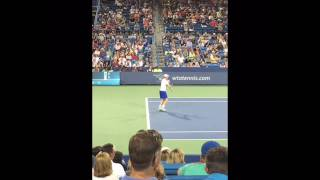 Andy Murray vs Juan Monaco Cincinnati 2016 court side