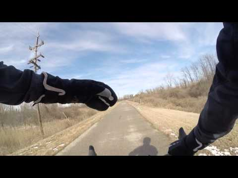 Cycling MCT Trails Madison Illinois Feb 2016 Snow Bike Blogger