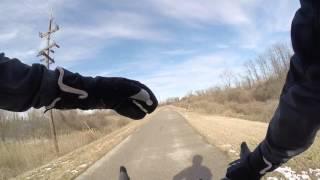 Cycling MCT Trails Madison Illinois Feb 2016 Snow Bike Blogger