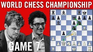 World Chess Championship 2018 Game 7: Magnus Carlsen vs Fabiano Caruana