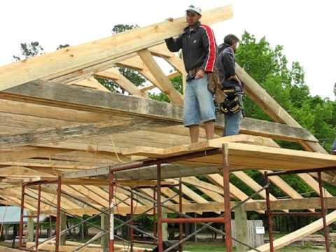 Pole Barn Construction - YouTube