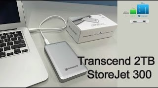Transcend 2TB Thunderbolt USB 3 0 StoreJet 300 Portable Hard Drive for Mac