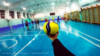 Volleyball first person | Setter & Wing Spiker - Highlights | 5 vs 5 | 6 episode | POV