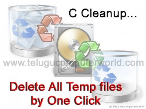 How to Clean Temp files by one click   Download Free Softwares