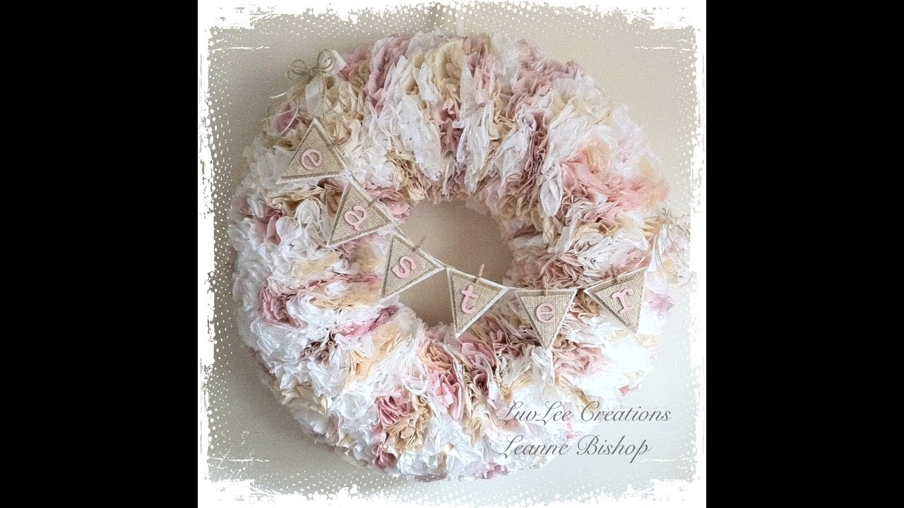 shabby chic coffee filter wreath tutorial youtube. Black Bedroom Furniture Sets. Home Design Ideas