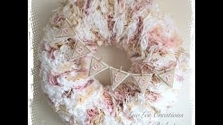 Shabby Chic Coffee Filter Wreath Tutorial