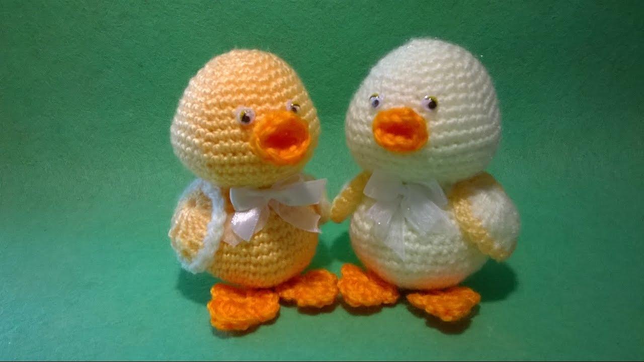 Amigurumi Duck Tutorial : Pulcino uncinetto amigurumi tutorial chick crochet pollito