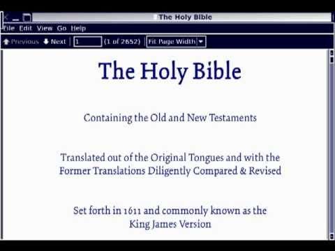 Bible in PDF Format
