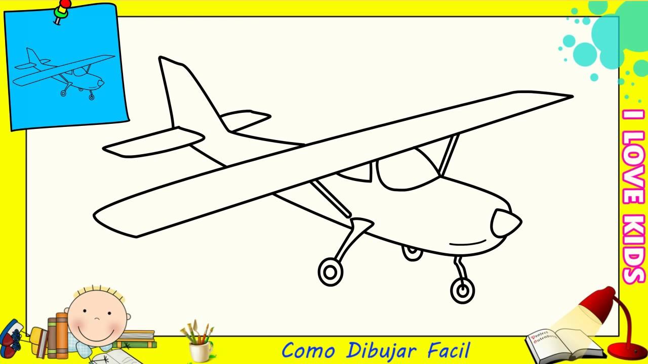 Dibujos Mas Fasiles Para Dibujar: Dibujos De Avions FACILES Paso A Paso Para Niños