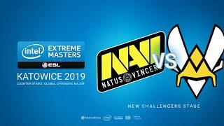 Na`Vi vs Vitality - IEM Season XIII - Katowice Major 2019 - map1 - de_mirage [MintGod & SSW]