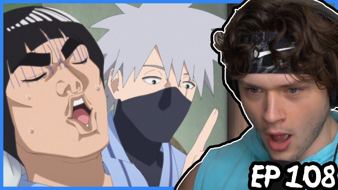 Download MIGHT GUY & KAKASHI... get haunted? || Boruto REACTION: Episode 108